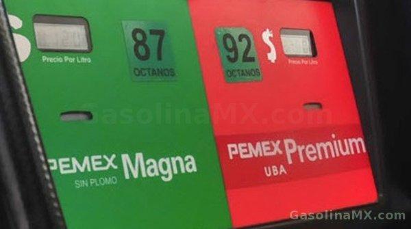 gasolina mexico gasolinazo magna premium diesel precio pemex