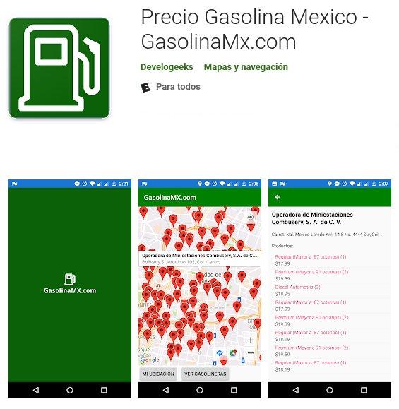 app gasolina mexico gasolineras