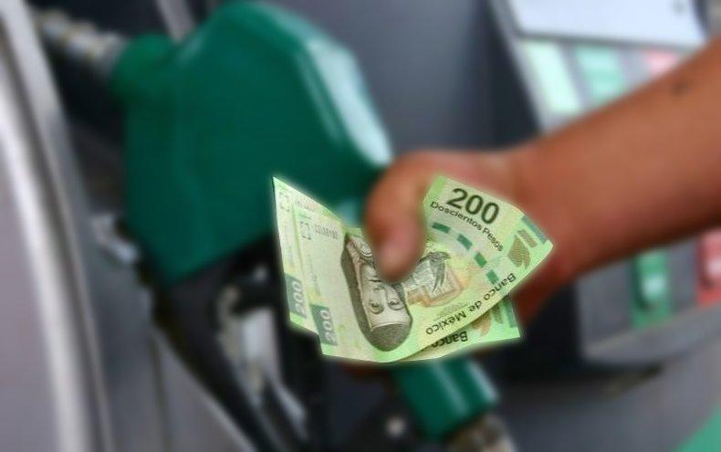 dinero precio gasolina hoy mexico