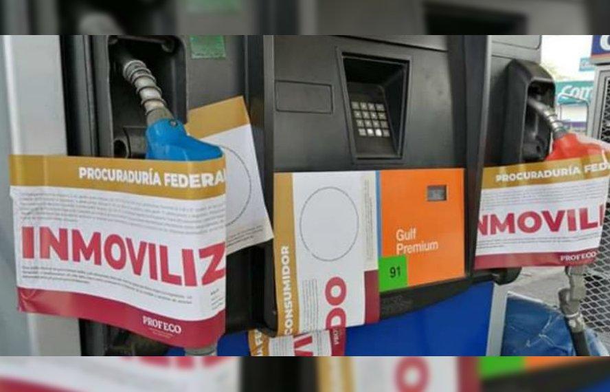 profeco clausura gasolineras niegan policias militares servicio
