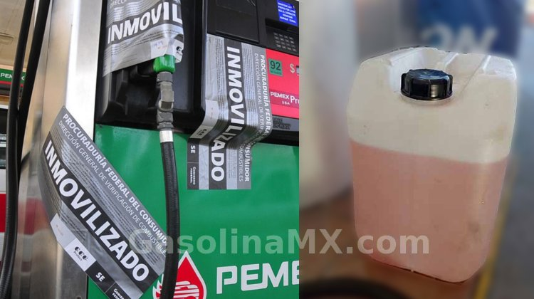 gasolinera roba litros garrafon gasolina